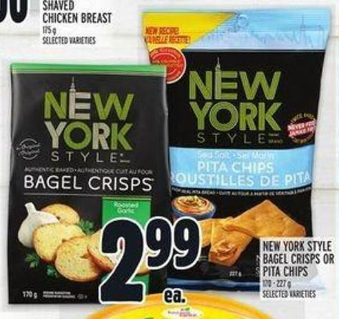 New York Style Bagel Crisps Or Pita Chips
