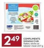 Compliments Imitation Crab Flakes - Sticks or Lobster Meat 227 g