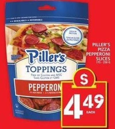 Piller's Pizza Pepperoni Slices