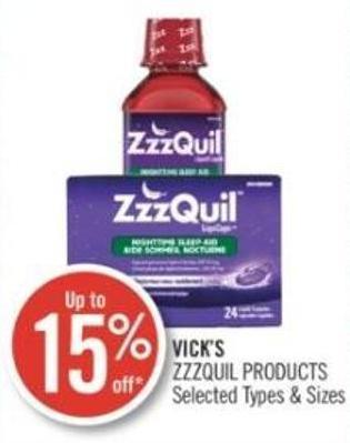 Vick's  Zzzquil Products