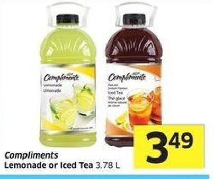 Compliments Lemonade or