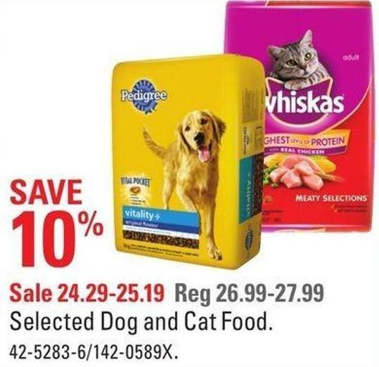 Selected Dog and Cat Food