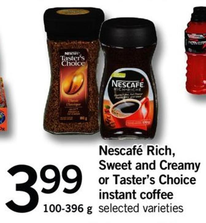 Nescafé Rich - Sweet And Creamy Or Taster's Choice Instant Coffee - 100-396 G
