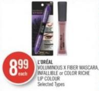 L'oréal Voluminous X Fiber Mascara - Infallible or Color Riche Lip Colour