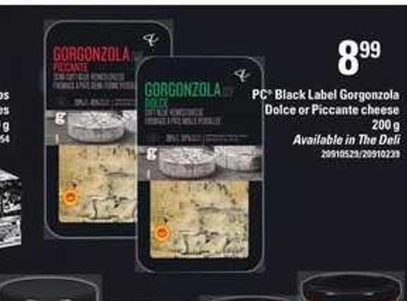 PC Black Label Gorgonzola Dolce Or Piccante Cheese - 200 g