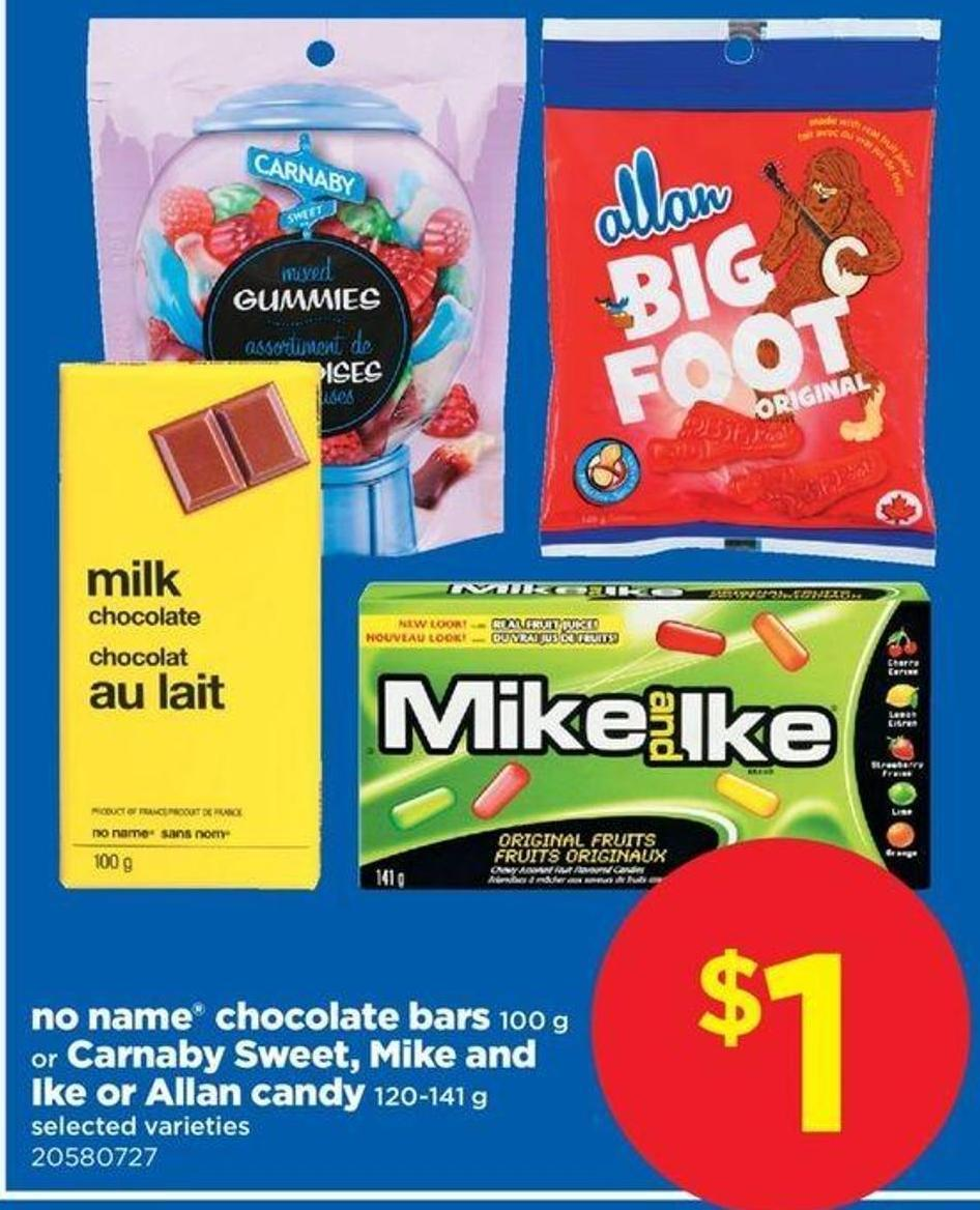 No Name Chocolate Bars 100 G Or Carnaby Sweet - Mike And Ike Or Allan Candy 120-141 G