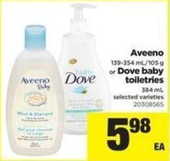 Aveeno - 139-354 Ml/105 G Or Dove Baby Toiletries - 384 Ml