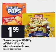 Cheemo Perogies 815-907 G Or Pillsbury Pops 4's