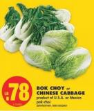 Bok Choy or Chinese Cabbage