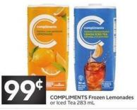 Compliments Frozen Lemonades or Iced Tea