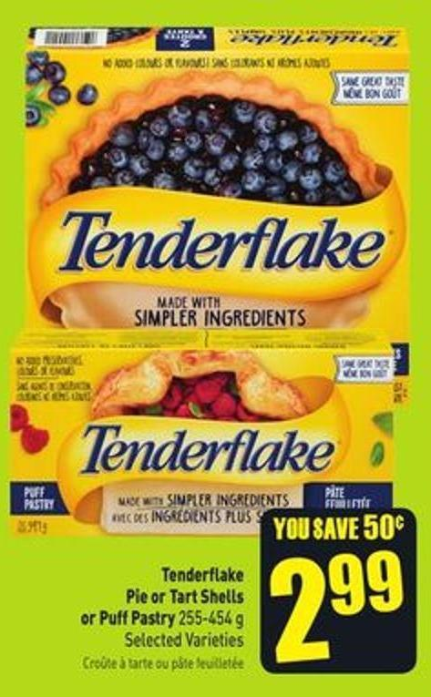 Tenderflake Pie or Tart Shells or Puff Pastry 255-454 g Selected Varieties
