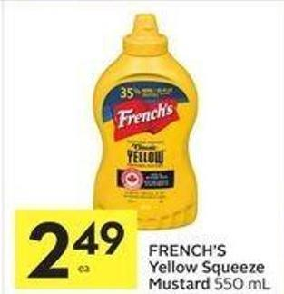 French's Yellow Squeeze Mustard