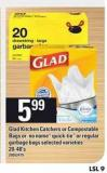 Glad Kitchen Catchers Or Compostable Bags Or No Name Quick-tie Or Regular Garbage Bags - 20-48's