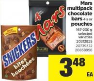 Multipack Chocolate Bars 4's Or Pouches 167-230 g