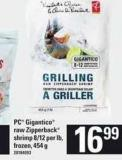 PC Gigantico Raw Zipperback Shrimp - 8/12 Per Lb - 454 g