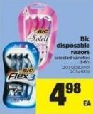 Bic Disposable Razors - 3-6's