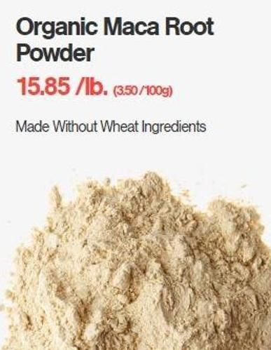 Organic Maca Root Powder