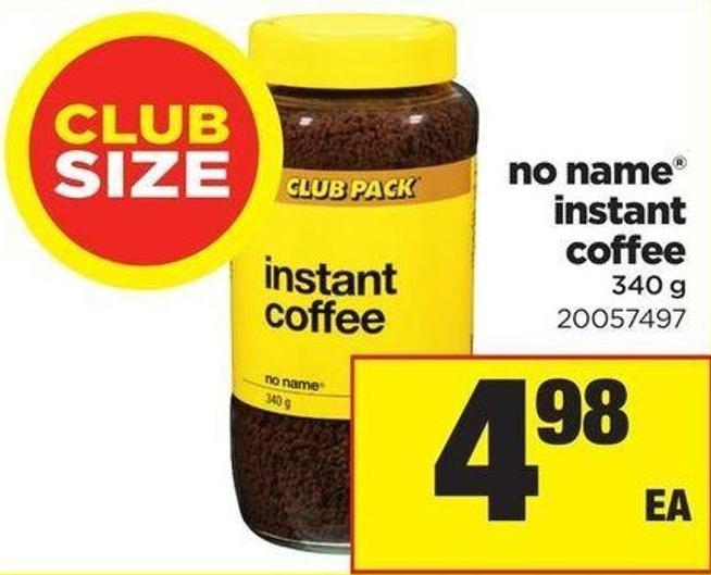 No Name Instant Coffee - 340 G