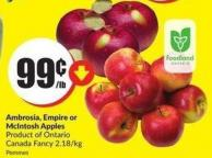 Ambrosia - Empire or Mcintosh Apples Product of Ontario Canada Fancy