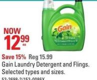 Gain Laundry Detergent and Flings