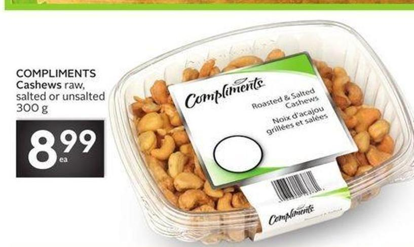 Compliments Cashews Raw