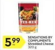 Sensations By Compliments Shredded Cheese 320 g