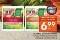OLYMEL Sliced Deli Meat Raised Without Antibiotics Selected Selected 150 g
