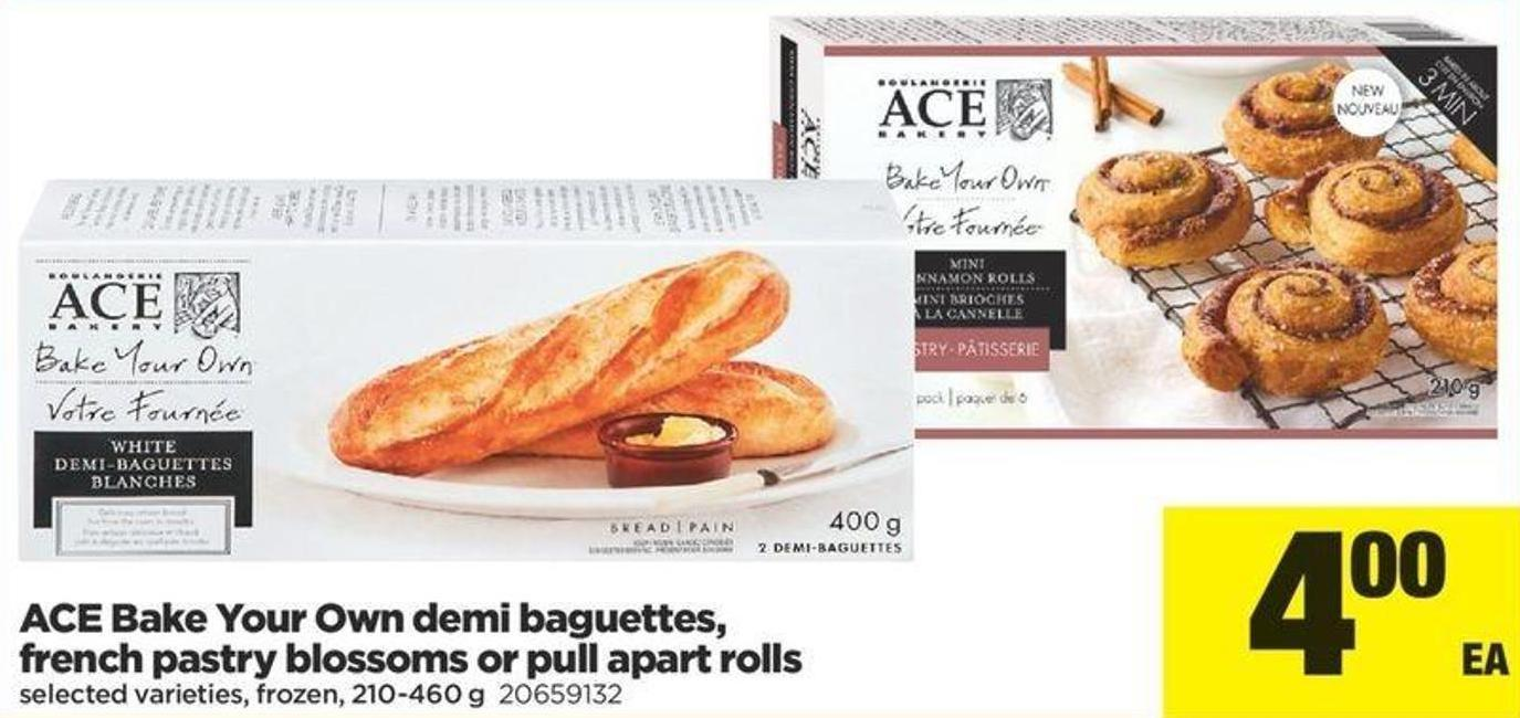 Ace Bake Your Own Demi Baguettes - French Pastry Blossoms Or Pull Apart Rolls - 210-460 G