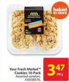 Your Fresh Market Cookies 10-pack 390 g