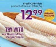 Fresh Cod Fillets Product of Iceland