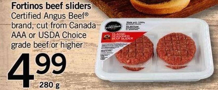 Fortinos Beef Sliders - 280g