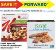 Kashi - Special K Or Vector Protein Bars - 144-200 g