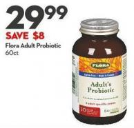 Flora Adult Probiotic  60ct