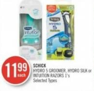 Schick Hydro 5 Groomer - Hydro Silk or Intuition Razors 1's
