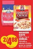 Quaker Oats - 709 G-1 Kg or Cereal - 350-600 g