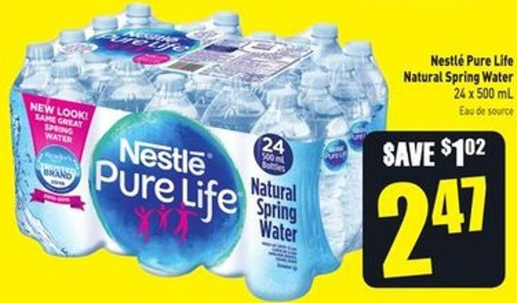 b93bc92df6 Nestlé Pure Life Natural Spring Water 24 X 500 mL