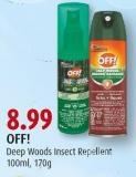 Off! Deep Woods Insect Repellent 100ml - 170g