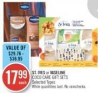 St. Ives or Vaseline Coco Care Gift Sets