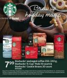 Starbucks Packaged Coffee 255-340 g - Starbucks K-cup PODS 10 Count & Starbucks Cookie Straws 20 Count