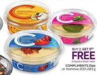 Compliments Dips or Hummus 200-283 g