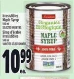 Irresistibles Maple Syrup 540 ml