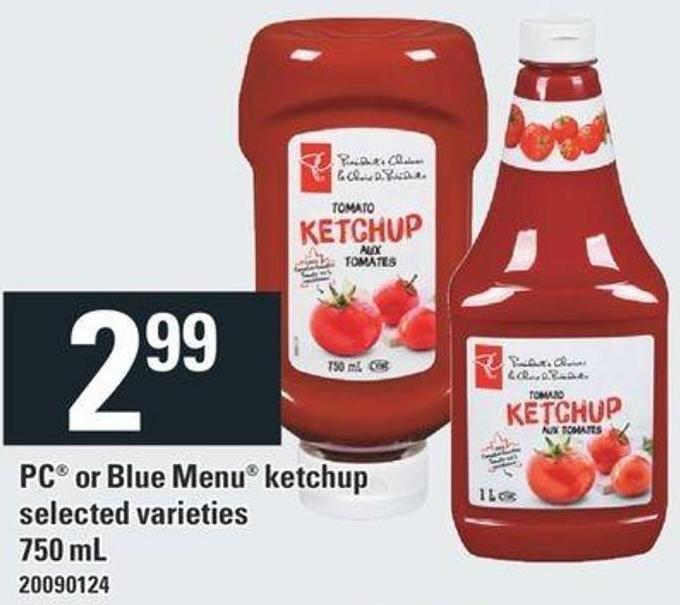PC Or Blue Menu Ketchup - 750 Ml