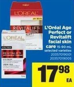 L'oréal Age Perfect Or Revitalift Facial Skin Care - 15-90 mL