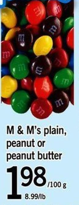 M & M's Plain - Peanut Or Peanut Butter