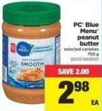 PC Blue Menu Peanut Butter