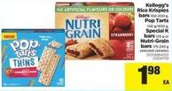 Kellogg's Rice Krispies Bars - 160-200 G - Pop Tarts - 140 G/400 G - Special K Bars - 125 G Or Nutri-grain Bars - 175-295 G