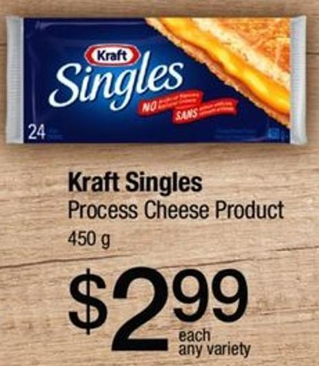 Kraft Singles Process Cheese Product 450 g