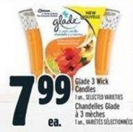 Glade 3 Wick Candles 1 Un. -