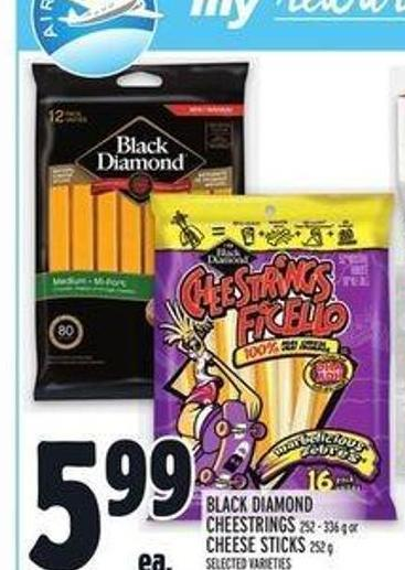 Black Diamond Cheestrings 252 - 336 g or Cheese Sticks 252 g
