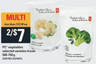 PC Vegetables 500-750 g